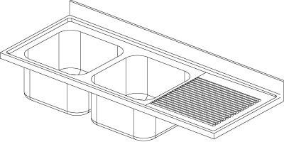 Lavatoio 2 vasche - Gocciolatoio Dx F.lli Perin