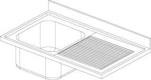 Lavatoio 1 vasca - Gocciolatoio Dx F.lli Perin