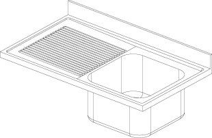 Lavatoio 1 vasca - Gocciolatoio Sx F.lli Perin